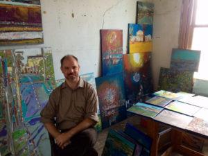 John in studio